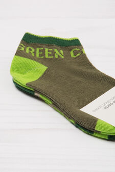 Two-pack short stretch socks, Green, hi-res