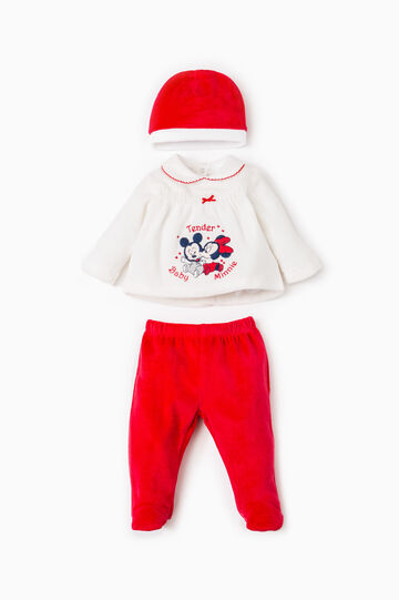 Baby Mickey and Minnie Mouse outfit, White/Red, hi-res