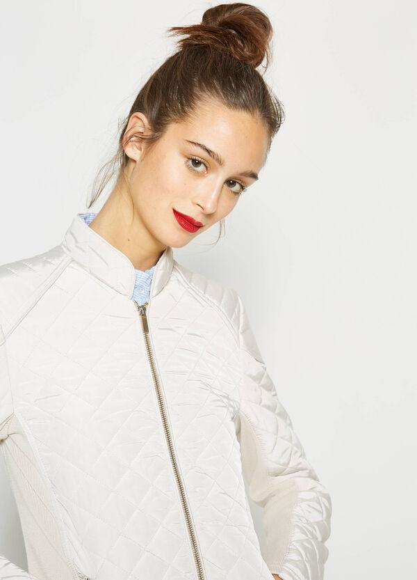 Solid colour diamond weave jacket | OVS