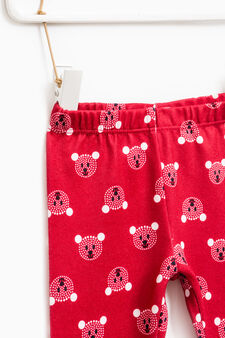 Stretch patterned trousers, Red, hi-res
