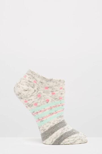 Set due paia di calze stretch fantasia, Grigio, hi-res