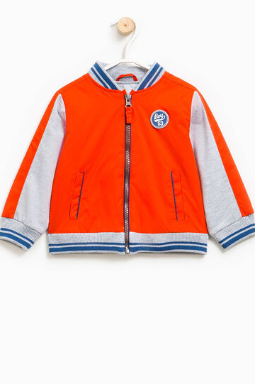 Jacket with contrasting inserts, Orange, hi-res