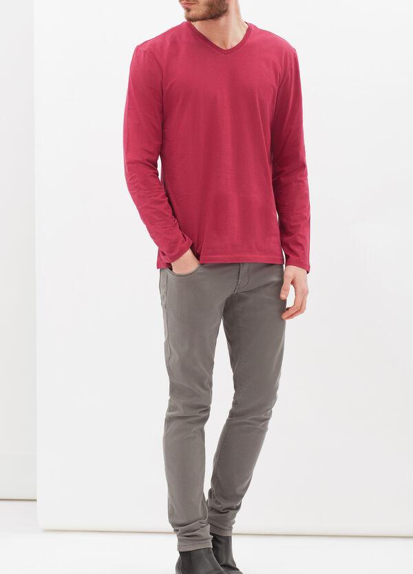 T-shirt a maniche lunghe con scollo a V | OVS