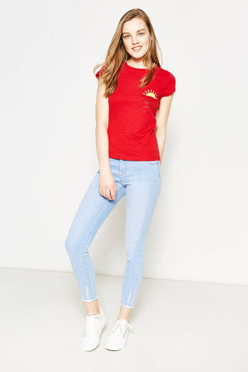 Printed T-shirt with small pocket