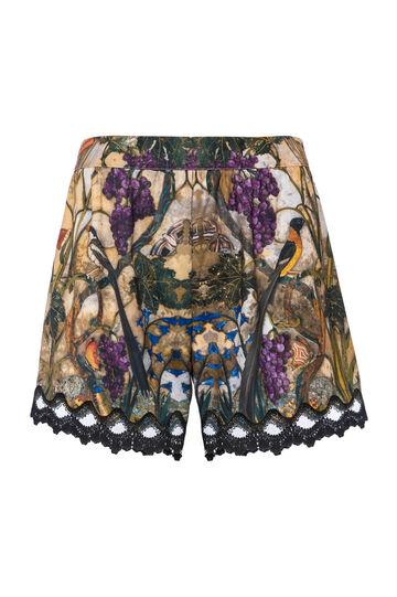 OVS Arts of Italy printed satin shorts