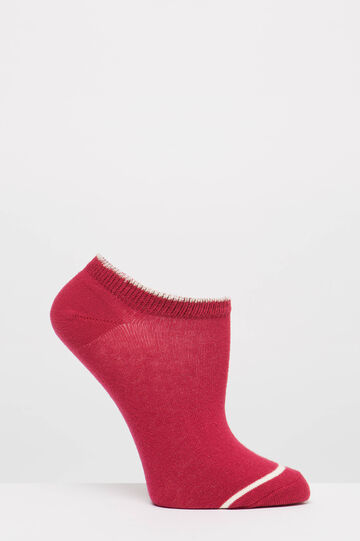Two-pair pack stretch socks with pattern, Red, hi-res