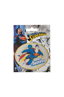Superman cotton iron-on patch, Multicolour, hi-res