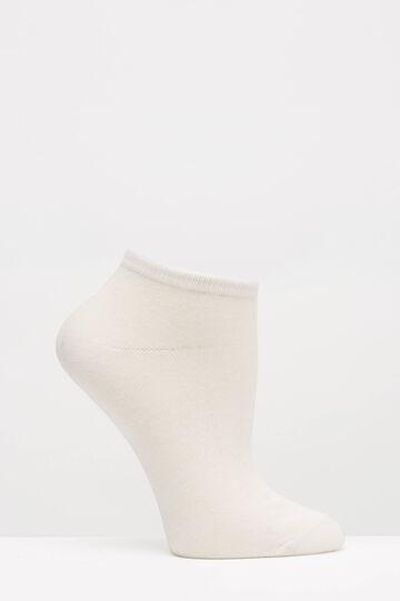 Three-pack striped short socks, White/Black, hi-res