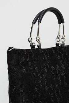 Handbag with sequins, Black, hi-res