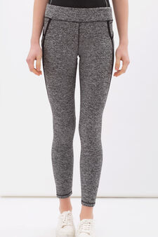 Stretch gym pants, Black/Grey, hi-res