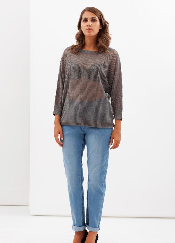Curvy T-shirt with lurex threads. | OVS