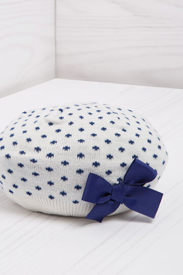 Polka dot beret in cotton