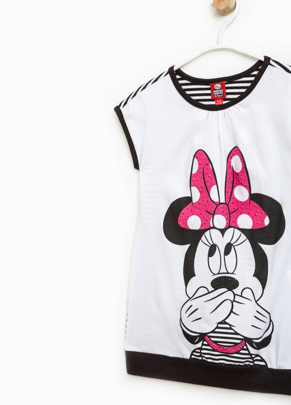 Vestitino con retro a righe e stampa Minnie | OVS