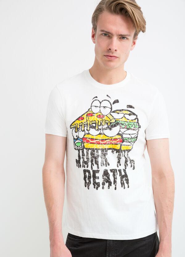 T-shirt puro cotone con stampa lettering | OVS