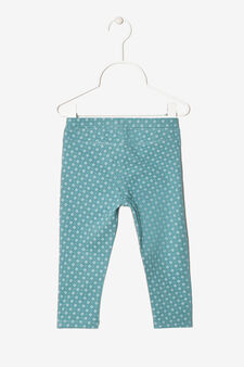 Geometric patterned trousers, Green, hi-res