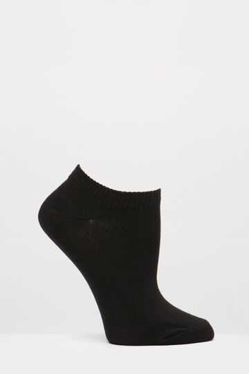 Two-pack short socks with puppies, Black, hi-res