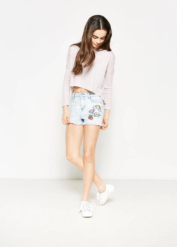 Camiseta de manga larga con lúrex Teen | OVS