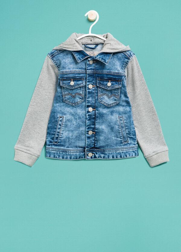 Denim jacket with hood | OVS