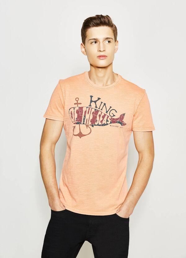 Printed cotton T-shirt | OVS