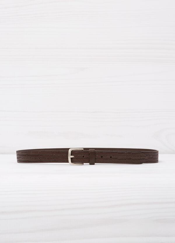 Braided leather belt | OVS