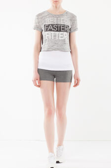 T-shirt corta maniche corte, Grigio chiaro melange, hi-res