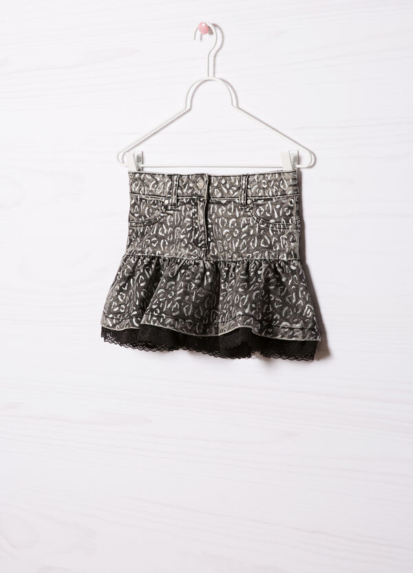 Stretch skirt with lace | OVS
