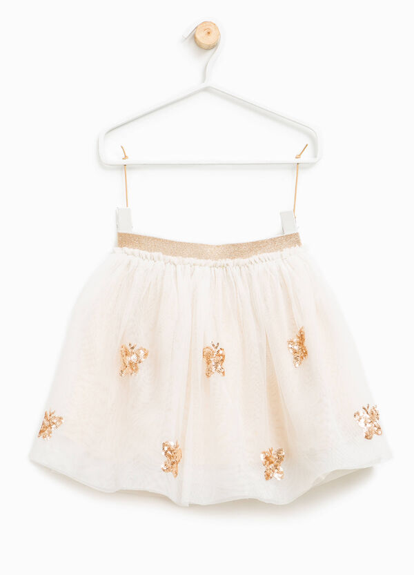 Tulle skirt with glitter and sequins | OVS