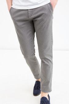 Stretch cotton chinos, Grey, hi-res