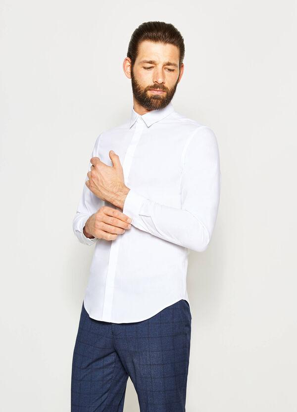 Camisa formal custom fit en tejido elástico | OVS