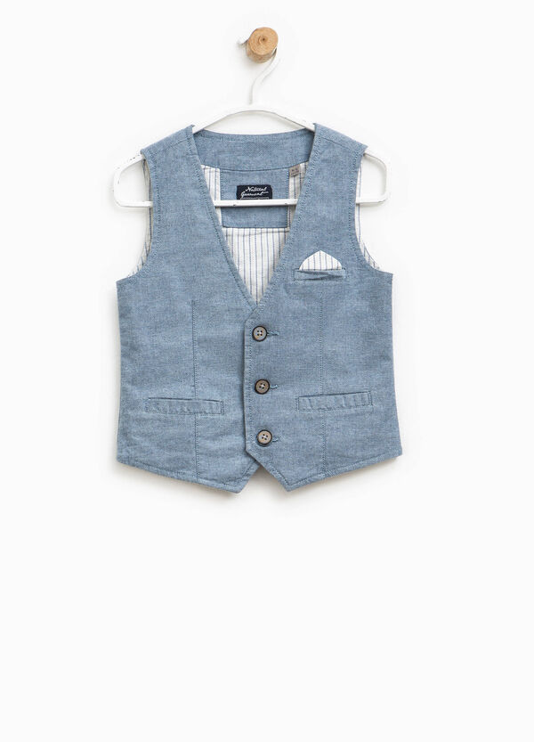 Gilet with small pocket and striped pouch | OVS
