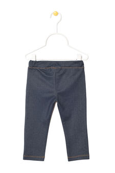 Stretch jeans with contrasting seams, Dark Blue, hi-res