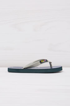 Thong sandals with print by Maui and Sons, Grey, hi-res
