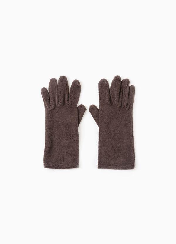 Long solid colour fleece gloves   OVS