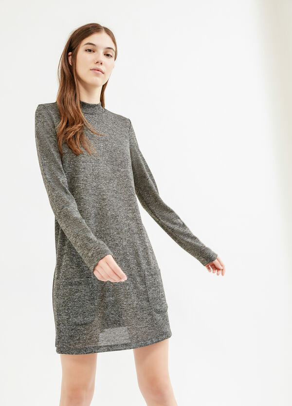 Stretch mélange dress with long sleeves | OVS