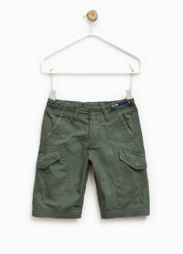 Cotton cargo Bermuda shorts | OVS