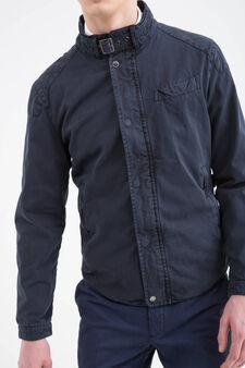 Rumford 100% cotton jacket, Navy Blue, hi-res