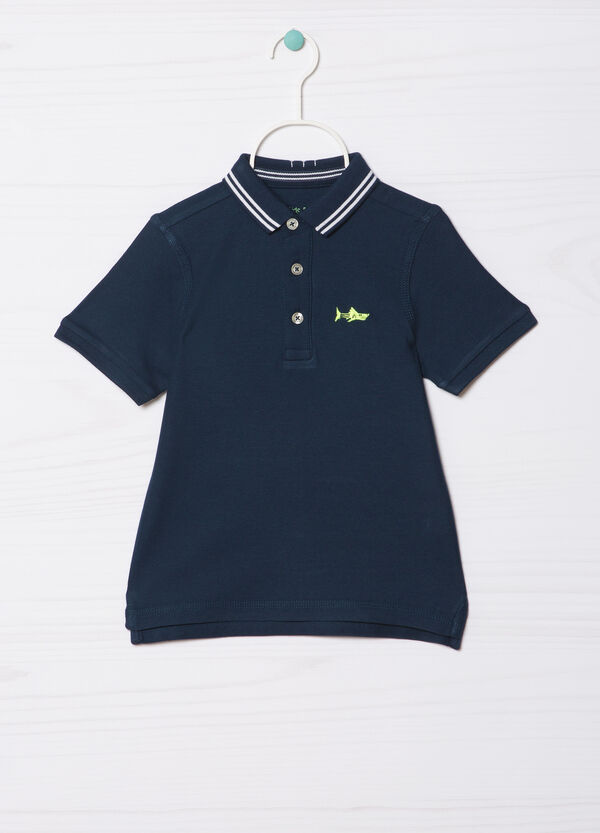 Polo shirt in 100% cotton with collar in contrasting colour | OVS