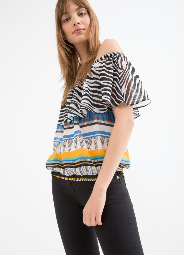 Blouse with boat neck | OVS
