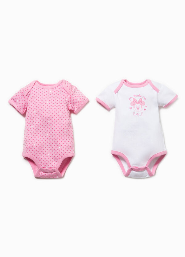 Two-pack hearts bodysuit with Minnie Mouse print | OVS