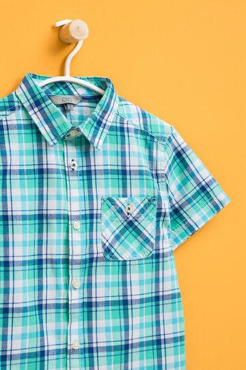 Camicia tartan con maniche corte