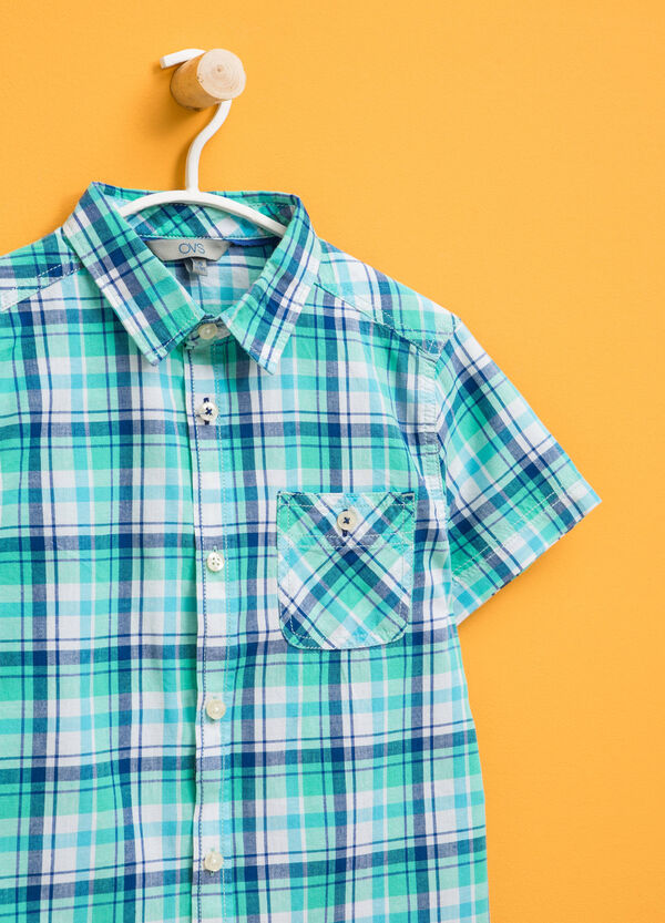 Tartan shirt in 100% cotton | OVS