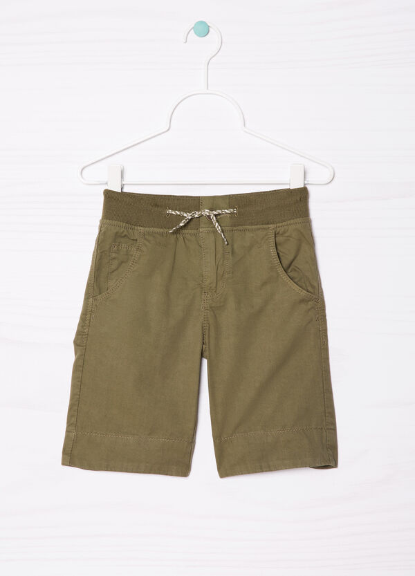 Pure cotton shorts with drawstring | OVS