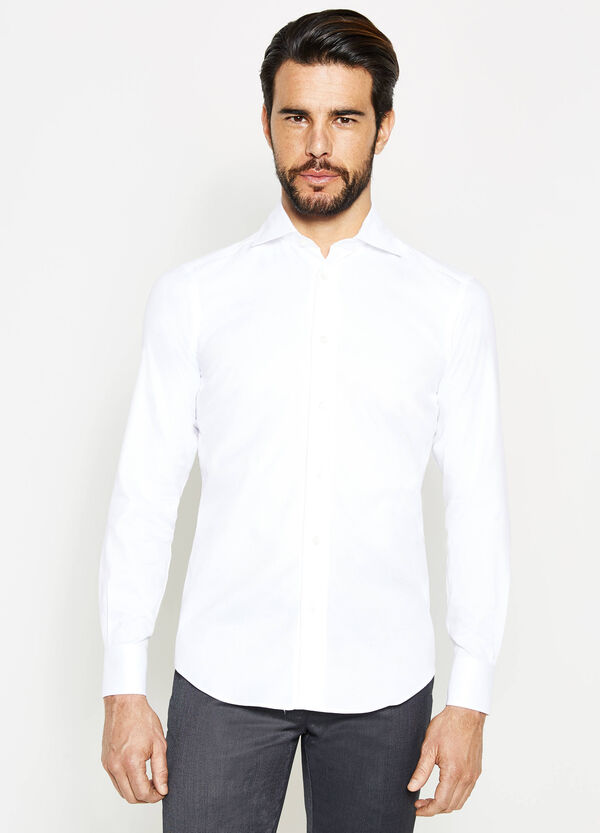 Slim-fit formal shirt with diamond weave | OVS