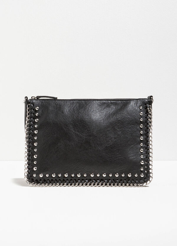 Clutch bag with chains and studs | OVS