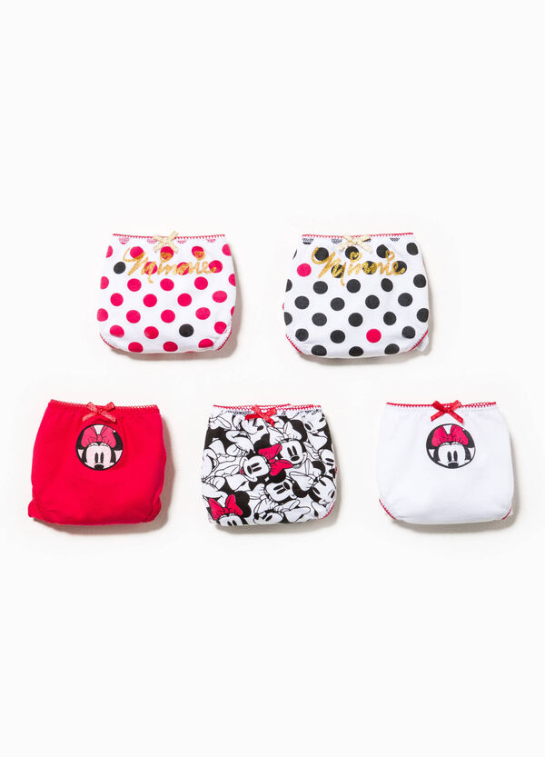 Five-pack Minnie Mouse and polka dot briefs | OVS