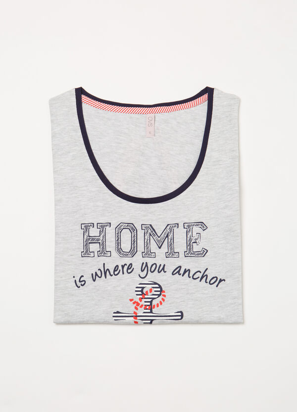Cotton pyjama top with print | OVS