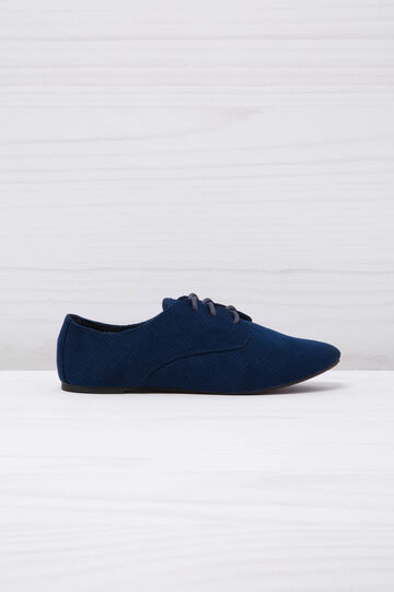 Low openwork sneakers, Blue, hi-res