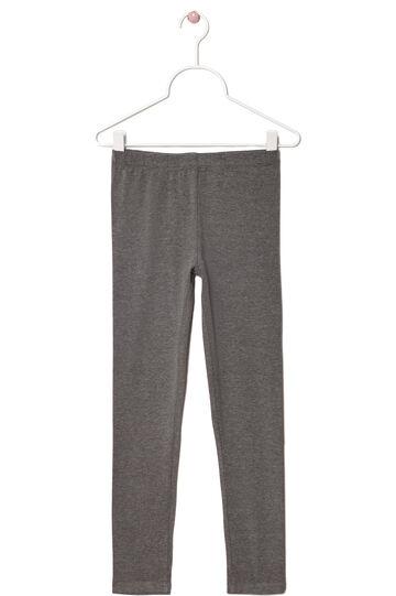 Stretch cotton leggings, Grey Marl, hi-res