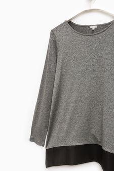 Smart Basic stretch viscose T-shirt, Grey, hi-res