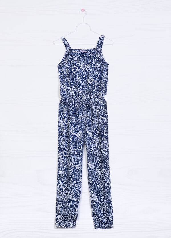 Patterned playsuit in 100% viscose | OVS